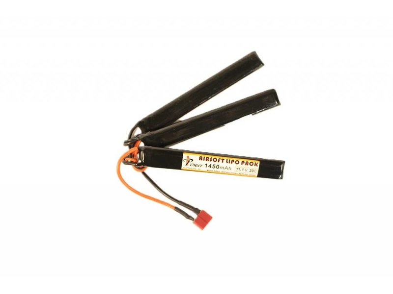iPower iPower 11.1v 1450mAh 20C 3X Nunchuck LiPo Battery Deans