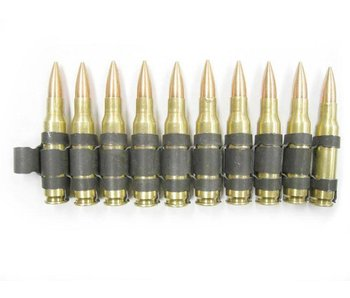 7.62mm linked dummy ammo (10rds)
