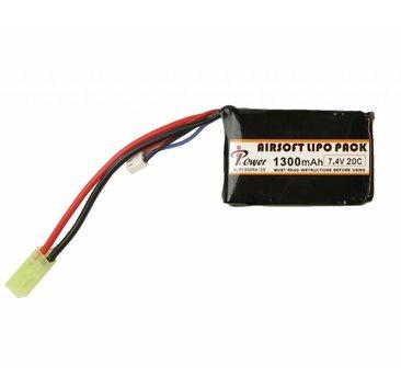 iPower iPower 7.4v 1300mAh  20C PEQ LiPo Battery Tamiya
