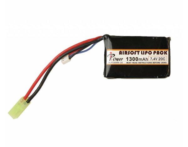 iPower iPower 7.4v 1300mAh 20c LiPo PEQ Style Battery