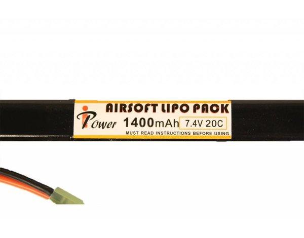 iPower iPower 7.4v 1400mAh 20C AK Stick LiPo Battery Tamiya