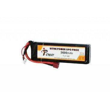 iPower iPower 11.1v 3600mAh 20C Mini LiPo Battery Deans