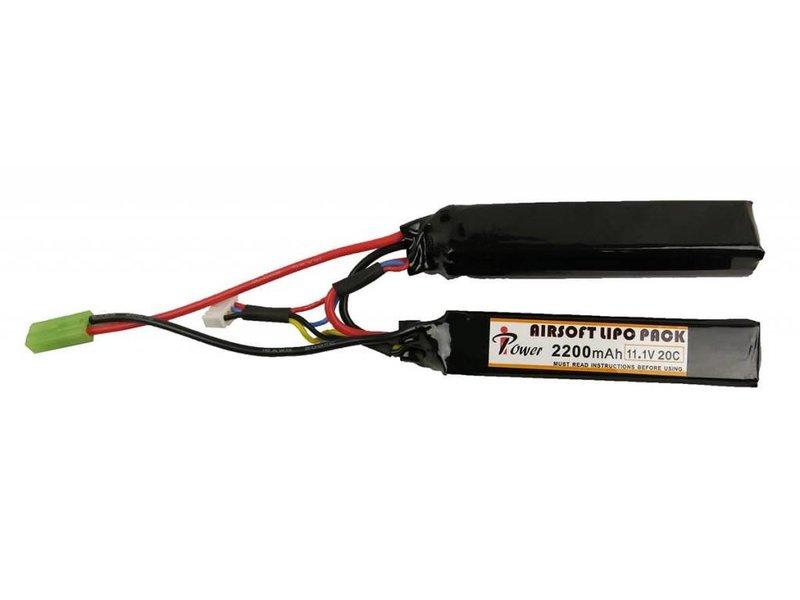 iPower iPower 11.1V 2200mah 20C LiPo Battery 2x Nunchuck