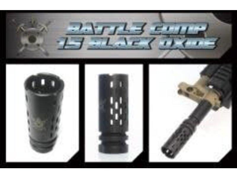 CW Black Airsoft PTS Battle Comp Metal 1.5 Flash Hider
