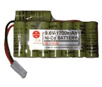 ICS 9.6V 1700mAh ICS PEQ battery