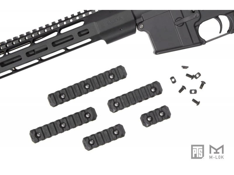 PTS PTS Enhanced M-LOK Rail 9 Slot Black