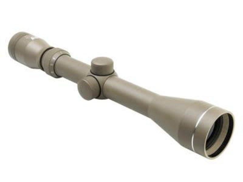 NcStar NC Star 3-9x40 Blue Lens P4 Full Size Scope with Weaver Rings Tan