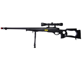 WELL MB10 VSR10 Bolt Action Spring Sniper Rifle w/ Fixed Stock and Fluted Barrel