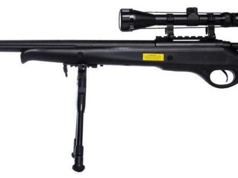 Well WELL MB10 VSR10 Bolt Action Spring Sniper Rifle with Fixed Stock and Fluted Barrel