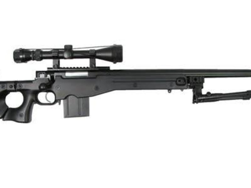 Well WELL MB4403 L96 Bolt Action Spring Sniper Rifle with Fluted Barrel and Folding Stock