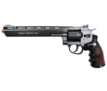"Win Gun full metal 8"" CO2 revolver, 6 shot"