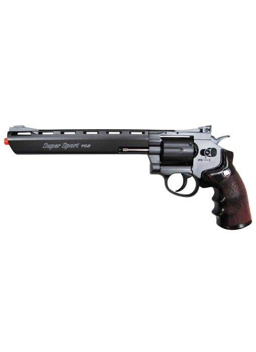 "Win Gun full metal 8"" CO2 revolver, 6 shot"