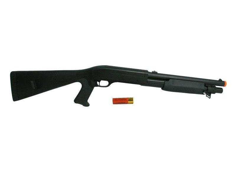 Double Eagle Double Eagle M56A Tri-Burst Full Stock Spring Shotgun Black
