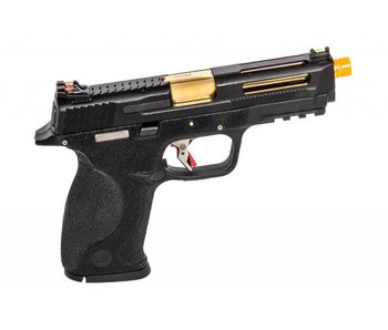 WE MP4 5.0 Custom Black, Gold Barrel