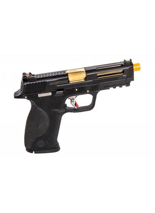 WE MP4 5.0 Custom Black, Gold Barrel