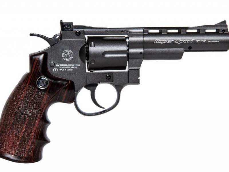 "Win Gun Win Gun full metal 4"" CO2 revolver, 6 shot"