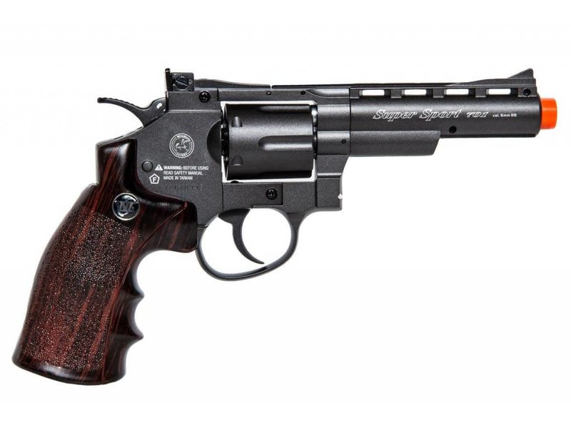 "Win Gun Win Gun full metal 4"" CO2 revolver, 6 shot"