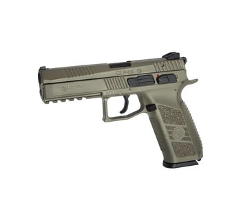 ASG CZ P-09 Poly GBB Flat Dark Earth with Green Gas Magazine