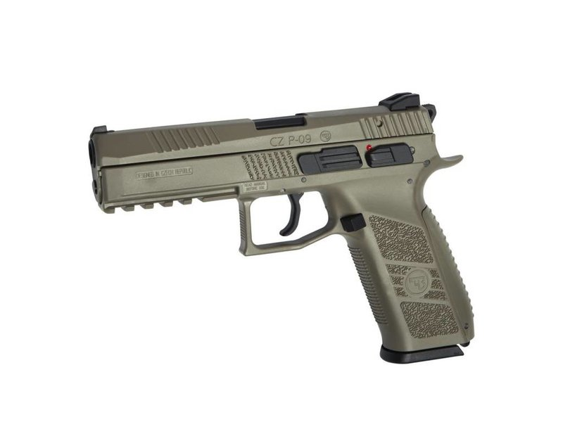 ASG ASG CZ P-09 Poly GBB Flat Dark Earth with Green Gas Magazine