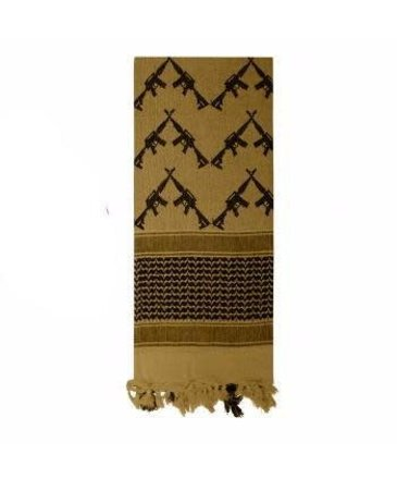Rothco Rothco Heavyweight Crossed Rifles Shemagh Tactical Desert Keffiyeh Scarf