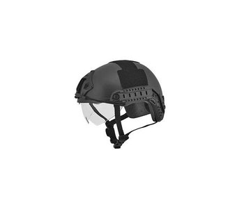 Lancer Tactical Tac Ballistic Helmet, Visor, Black