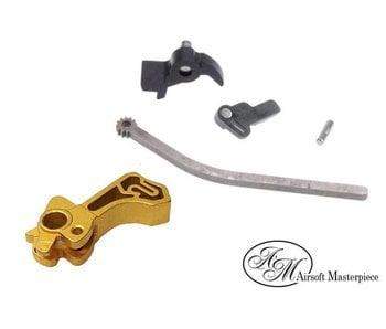 Airsoft Masterpiece CNC Steel Hammer & Sear Set SV Gold