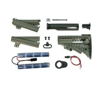 King Arms MOD Stock w/ 9.6V Olive Drab