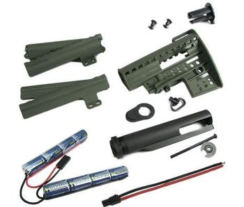 King Arms M4 Clubfoot Stock w/ 9.6V Olive Drab