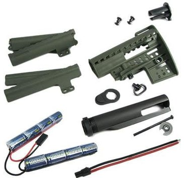 King Arms King Arms M4 Clubfoot Stock w/ 9.6V Olive Drab