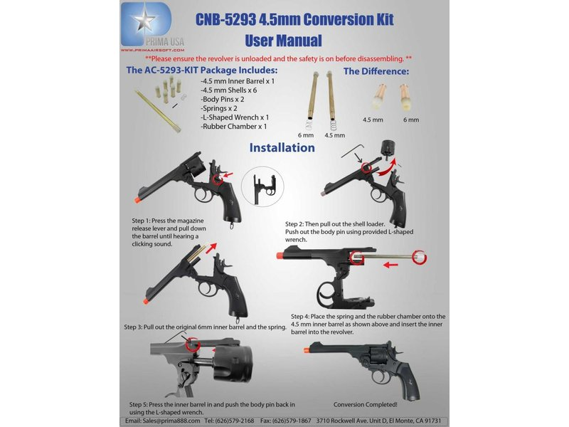 Well WELL G293 Revolver 4.5mm Conversion Kit
