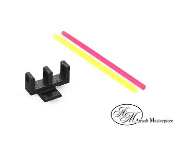 Airsoft Masterpiece Fiber Front Sight for Hi Capa, Brazo Lighting Rod