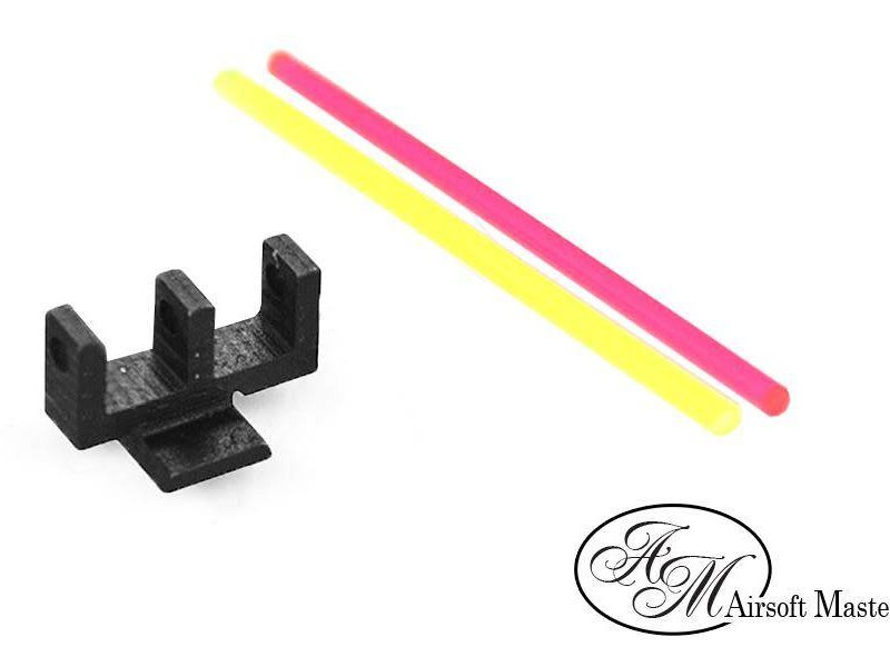 Airsoft Masterpiece Airsoft Masterpiece Fiber Front Sight for Hi Capa, Brazo Lighting Rod