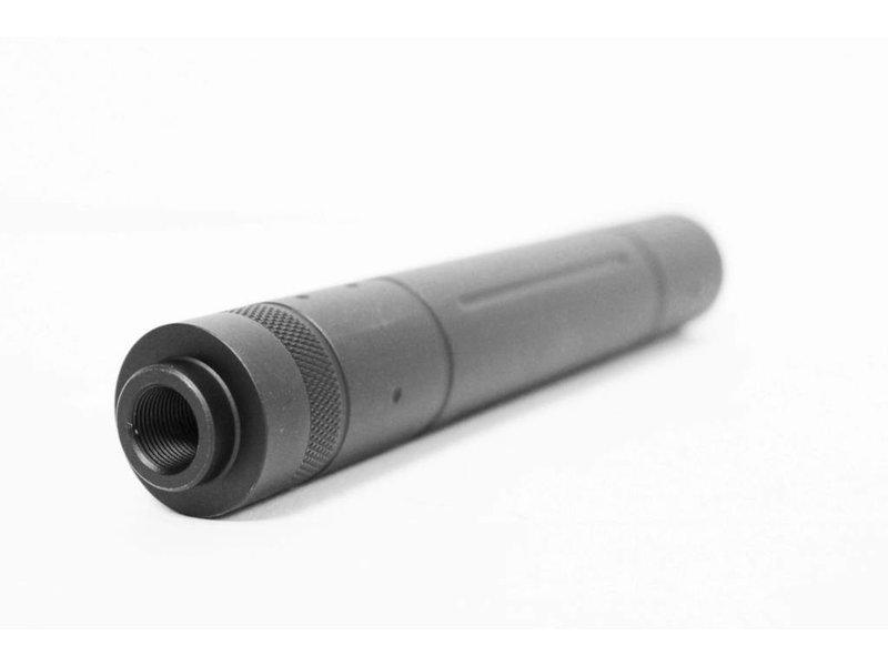 Castellan notched silencer, 195mm, 14mm CCW thread