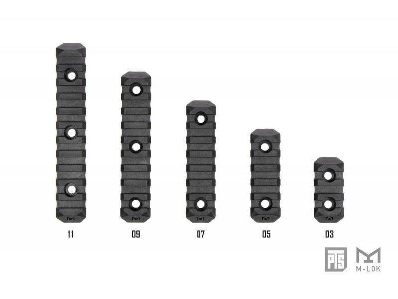 PTS PTS Enhanced M-LOK Rail 3 Slot Black