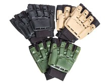 Airsoft Extreme AEX Armored Glove, Half Finger BLK XS