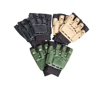 Airsoft Extreme Armored Glove, Half Finger BLK XS