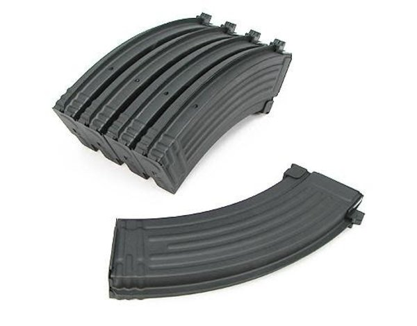 King Arms King Arms AK47 140 Round Metal Midcap Magazines 5 Pack