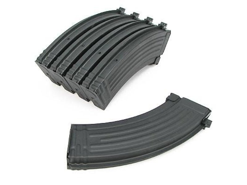 King Arms King Arms AK47 140 Round Metal Midcap Magazines 5 Pack