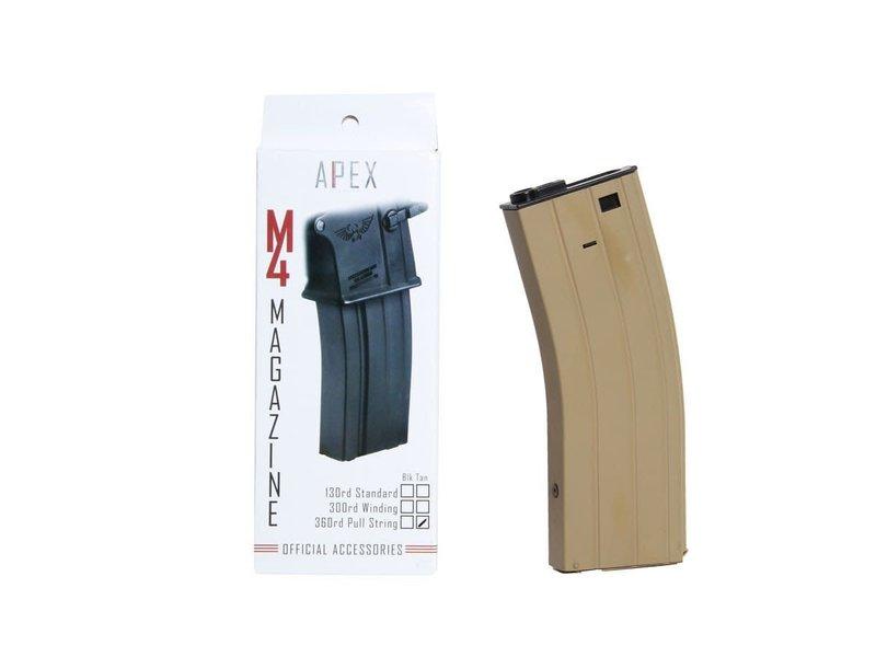 Apex Apex M4 360 rd pull string mag, TAN