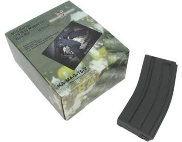 King Arms King Arms M4/M16 120 Round 5 Pack Mid Capacity Magazine Black