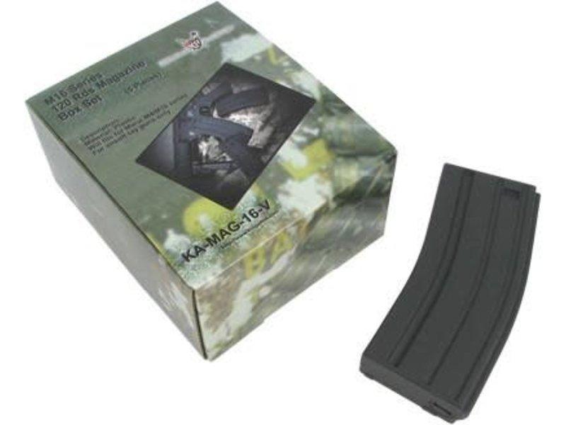 King Arms King Arms M16 120rd Midcap 5pk BLK
