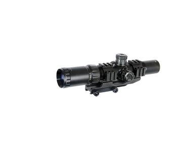 Lancer Tactical 1.5-4x Illuminated MIL Dot Scope