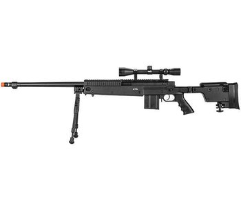 WELL MB4407 Bolt Rifle w/Scope+Bipod Black