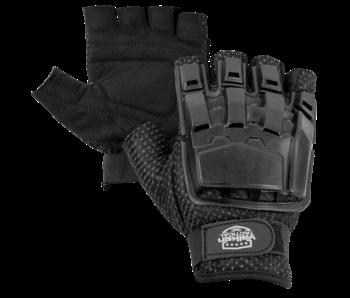 V-Tac Half Finger Armor Gloves BLK XS/S