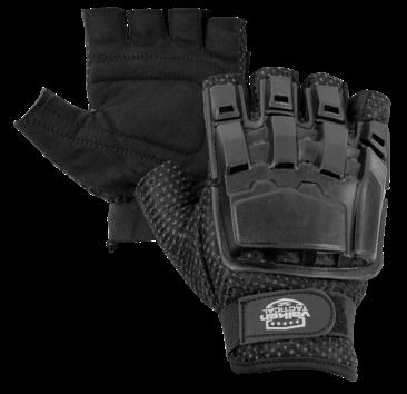 V-Tac V-Tac Half Finger Armor Gloves BLK XS/S