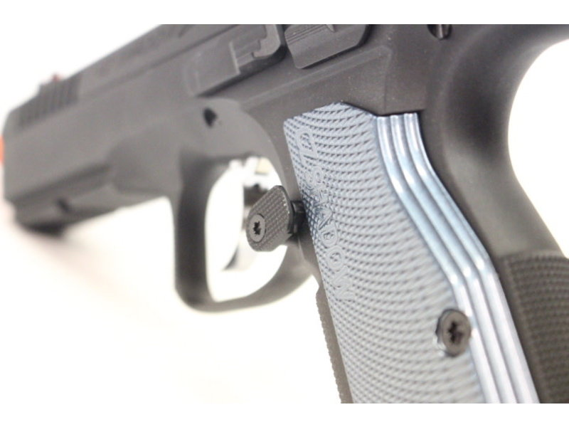 ASG ASG CZ Shadow 2 Full Gas Blowback Pistol with CO2 Magazine, Black and Blue