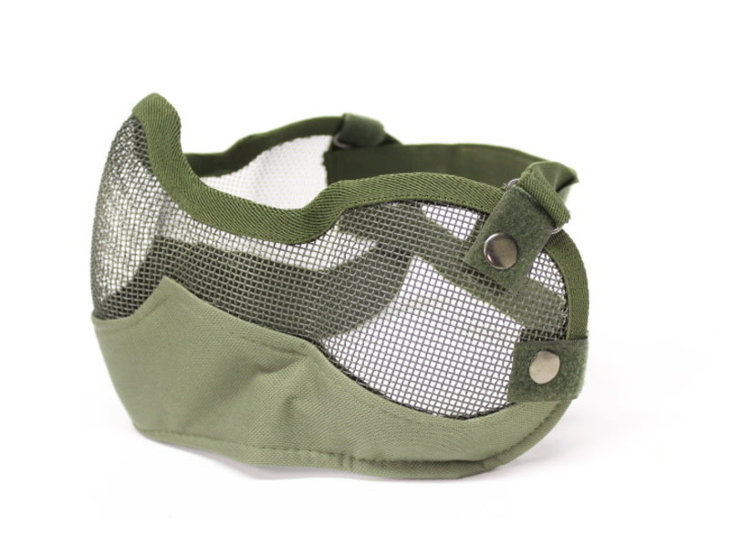 V-Tac V-Tac 3G Wire Mesh Mask with Ear Protection Olive Drab
