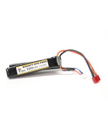 iPower iPower 7.4v 2200mAh 20C 2X Nunchuck LiPo Battery Deans