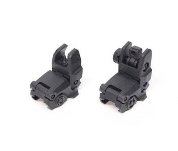 AEX MBUS front and rear flip sight set - BLACK