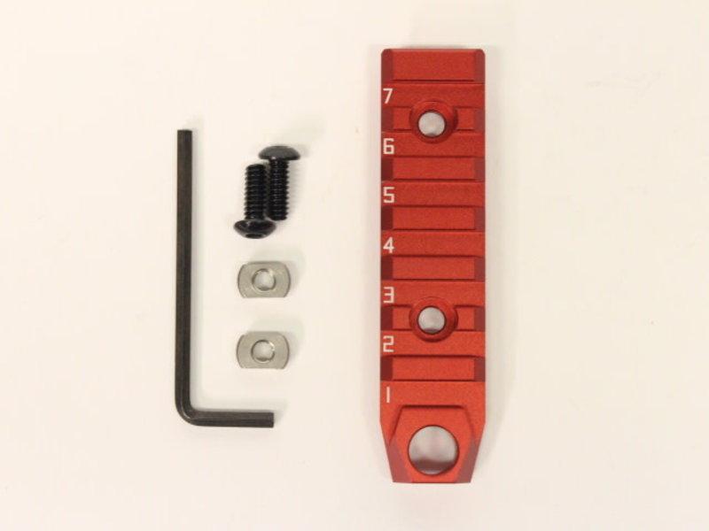 Castellan Aluminum 7 Slot M-LOK Rail Red With QD Mount Point